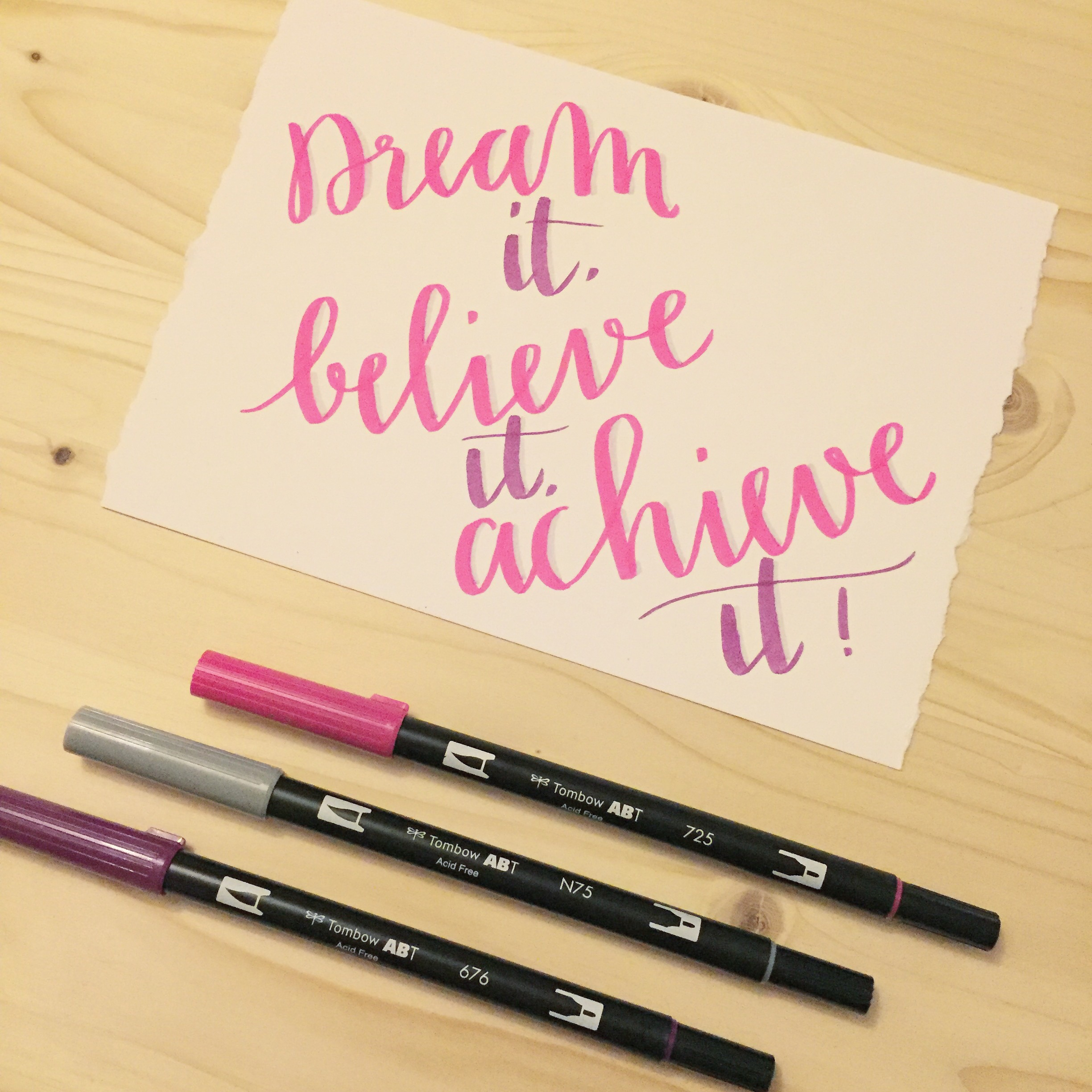 brushlettering quote